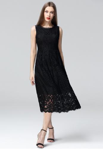 Sunnydaysweety black Full Lace Vest Dress CA02262BK SU219AA0GNSYSG_1