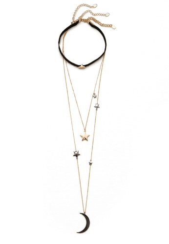 LUCCACAL gold 3 x Stacie Layered Choker Necklace LU294AC71MYYMY_1