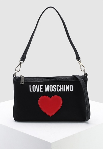 b8f2ed8881 Buy Love Moschino Canvas Sling Bag Online on ZALORA Singapore