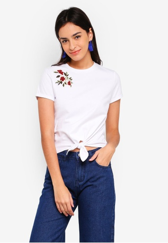 ZALORA white Embroidered Top 42703AAF2C71C8GS_1