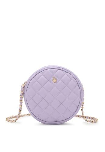 Swiss Polo purple Ladies Chain Sling Bag C08B9AC6281289GS_1