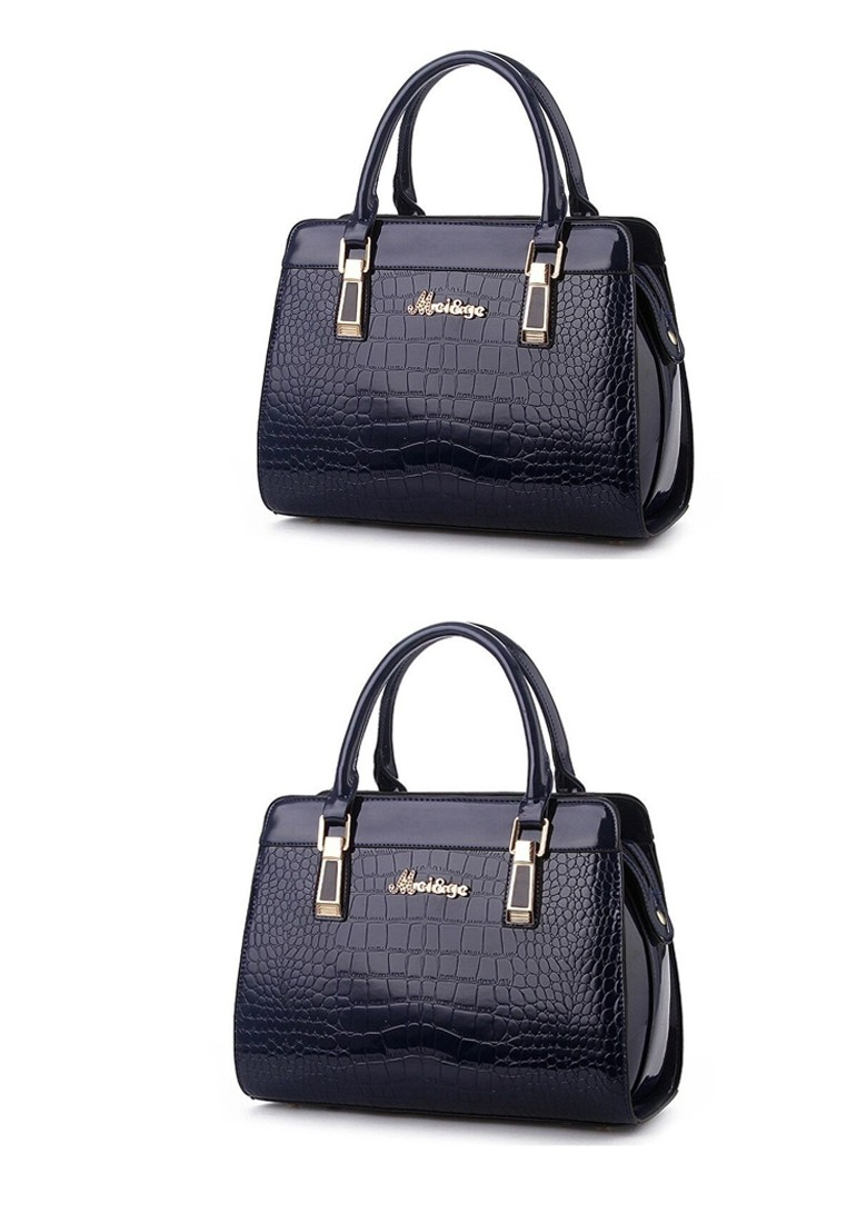 MCI&GE 16002 Leather Snake Skin Pattern Shoulder Bag Bundle