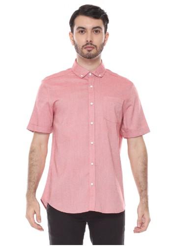 Dyllon red Dyllon Short Sleeve Plain Shirt 7D890AA44AD0F3GS_1