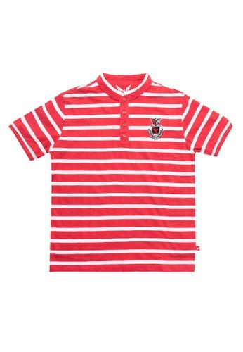 Cardinal Kids red Short Sleeves Polo Shirt 61E23KA9825D1DGS_1