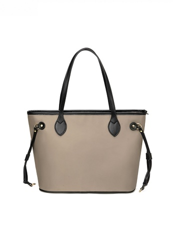 Twenty Eight Shoes Stylish Large Capacity Nylon Oxford Patch Faux Leather Tote Bag JW CL-C3701 4CFC4AC49F6287GS_1
