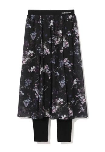 MUSIUM DIV black Layered floral skirt A21B8AA75D92CBGS_1