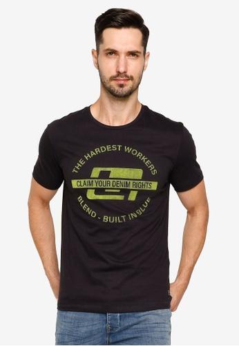 BLEND black Vintage Logo Print Crew Neck T-Shirt 2859AAA3C3938BGS_1