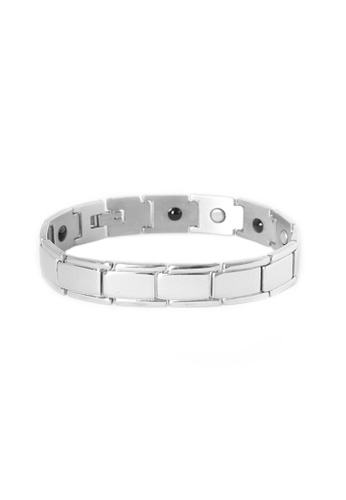 Elfi silver Elfi Stainless Steel Magnetic Power Energy Health Bracelet Bangle 04 EL186AC0SUZBMY_1