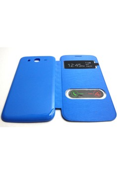 S-View Flip Cover for Samsung Mega 5.8 (Blue)