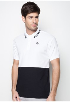 Two-Tone Tee with Emblem
