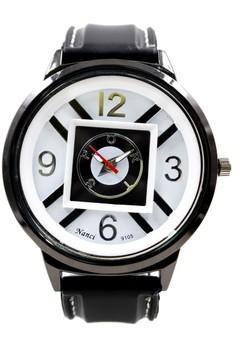 Nanci Raphael Rubber Strap Watch 9105