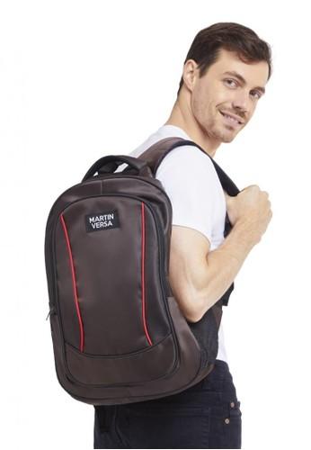 Martin Versa brown Polo Backpack Laptop USB Extender - Canvas Bag TP02 Brown 9036BACF57EBEBGS_1
