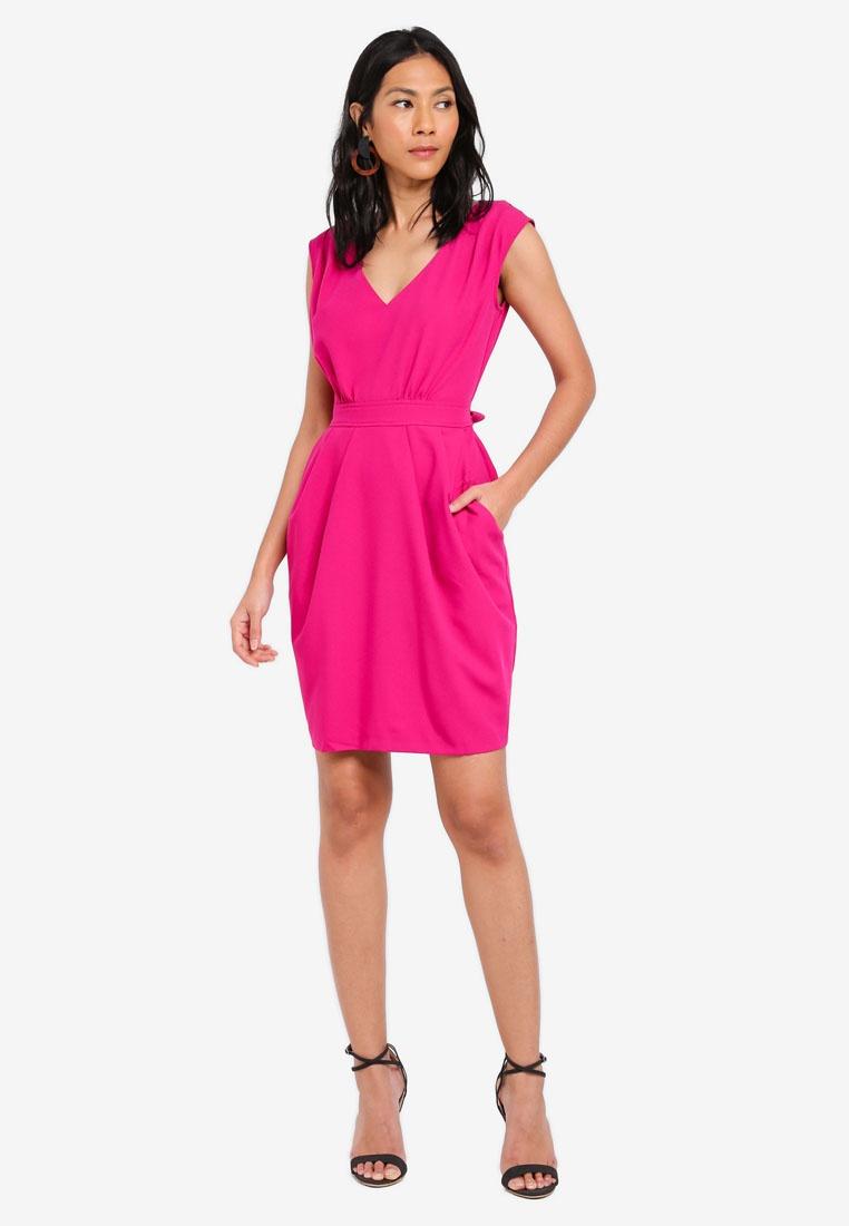 Magenta Skirt Tulip Tie Dress CLOSET qw7qpIa