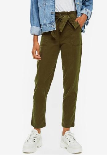 TOPSHOP green High Waist Utility Trousers AD22FAA11A4E19GS_1
