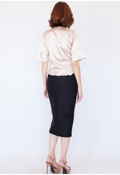 c7ff65592e3 Hook Clothing Button Front Midi Pencil Skirt RM 66.00. Sizes One Size
