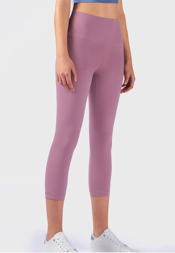 B-Code pink ZUU3027-Lady Quick Drying Running Fitness Yoga Leggings-Pink 1E3E7AA5FDC94EGS_1