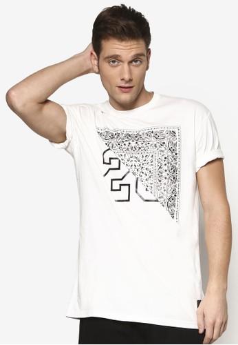 Paise 印花文esprit macau字設計 TEE, 服飾, T恤