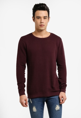 Only & Sons 紅色 Henry Knitted Jumper ON662AA0RB5PMY_1