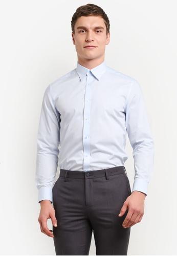 G2000 blue Poplin Shirt G2754AA0SHB2MY_1