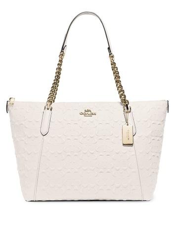 Coach white Ava Chain Tote Bag (cv) FD2A7AC0565ED0GS_1