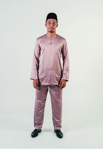 Khalifah by N multi and brown Baju Melayu Teluk Belangah 1.0 Slim 98D2BAA45B7C67GS_1