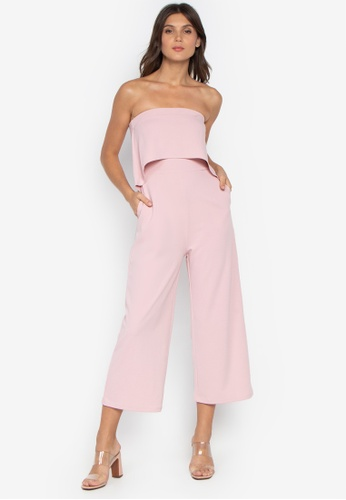 32b90b33bf7 Shop Pois Tube Top Wide Leg Jumpsuit Online on ZALORA Philippines