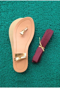Caca Design-It-Yourself Sandals - Brown Ribbon