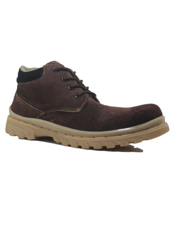 Cut Engineer brown Cut Engineer Safety Low Boots Classic Suede Genuine Leather Brown CU226SH37VUGID_1