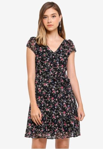 Dorothy Perkins black Petite Black V Neck Sb Dress 354D9AABC5B054GS_1