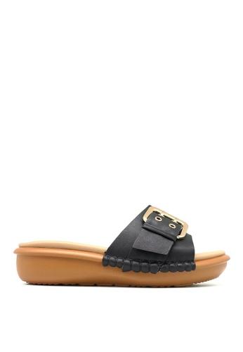 Carlo Rino black Carlo Rino 33370-C011-08 Slip-on Flat Sandals 66DDFSH77BB3E2GS_1