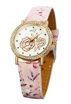 OLJ Rose Baby Leather Strap Watch B1637