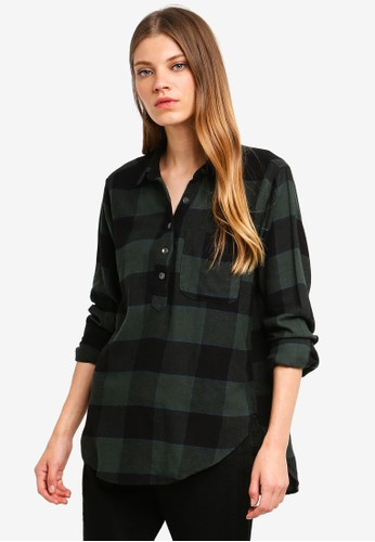 Abercrombie & Fitch green and multi Longsleeve Flannel Shirt 04F5DAA52C0D52GS_1