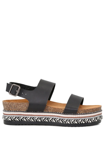 London Rag black Black Flatform Sandal B60F5SH35E3988GS_1
