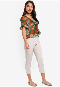 5972ba0ae722 38% OFF ZALORA Ruched Front V-Neck Top S$ 39.90 NOW S$ 24.90 Sizes XS S M L  XL