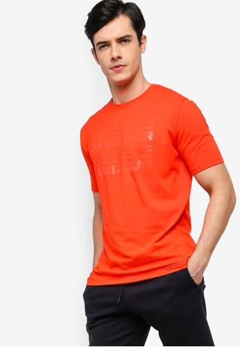 Under Armour red Wordmark Glitch Tee 40FE4AAB5EE634GS_1