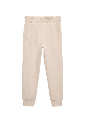 MANGO KIDS beige Cotton Jogger-Style Trousers 26B7FKAEC46BB5GS_1