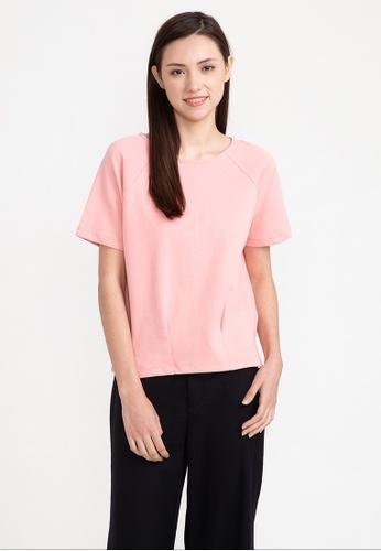 Bossini pink Short Sleeve Solid Tee 934FCAA02DA4F5GS_1