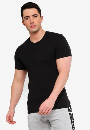 39c56a672fddd Calvin Klein black Short Sleeve Crew Neck T-Shirt - Calvin Klein Underwear  483C7AAE310957GS 1