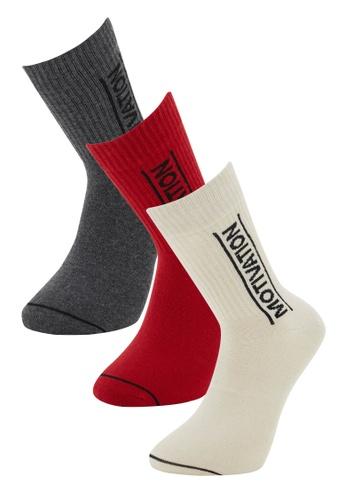 DeFacto multi 3-pack Socks DF831AA33532AAGS_1