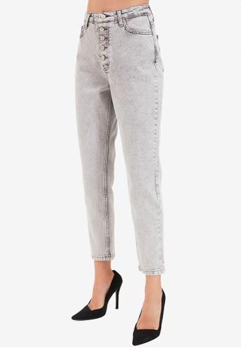 Trendyol grey High Waist Mom Jeans 97289AA7012072GS_1