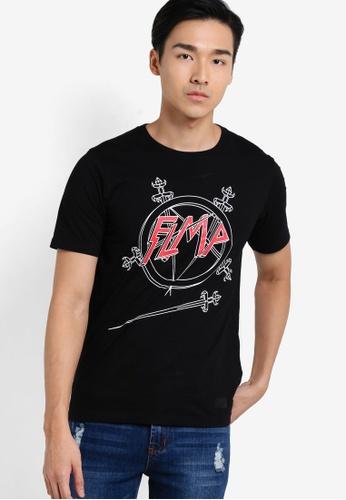 Flesh IMP 黑色 Sword Slayer T-shirt FL064AA20VVRMY_1