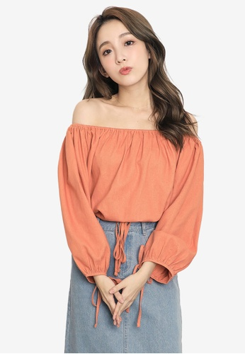 909eff87295e39 Shop Tokichoi Off Shoulder Ribbon Detail Crop Top Online on ZALORA  Philippines