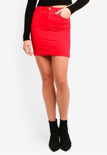 67eb8f09e7cb Shop MISSGUIDED Denim Super Stretch Mini Skirt Online on ZALORA Philippines