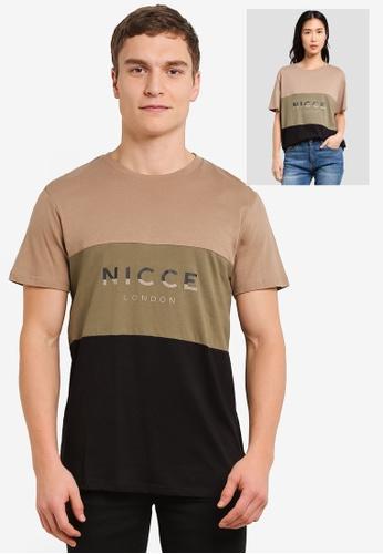Nicce London multi Triple T-Shirt NI146AA0SBJRMY_1