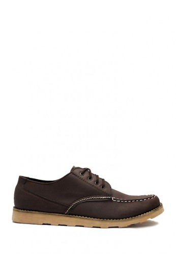 D-Island brown D-Island Shoes Urban Low Boots Vintage Leather Dark Brown DI594SH03MUMID_1