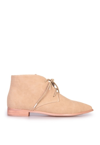 Sunnydaysweety beige Big Sale Item - F/w Classic Straps Pointed Flat Boots C12141BE SU219SH0FAKOSG_1