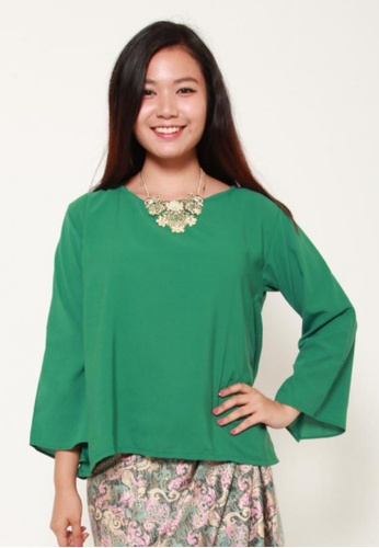Naphthys Collection green Meissa Blouse 3156BAA58ABA97GS_1