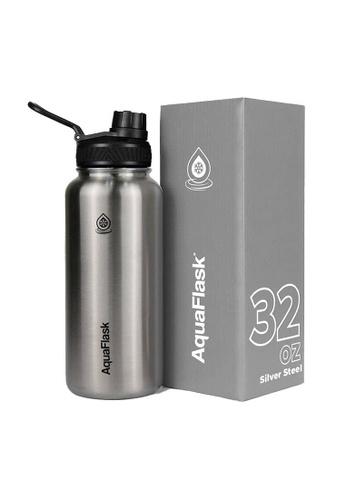 Aquaflask silver 32oz Wide Mouth Water Bottle CA79DACC055753GS_1