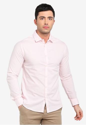 Cotton On pink Slim Smart Shirt F642BAAE7D257FGS_1