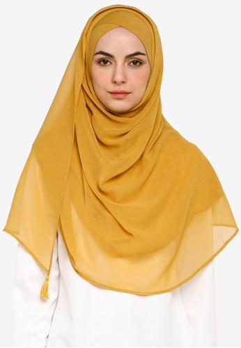 Bokitta yellow Mustardy Instant Hijab B2C63AAD87617AGS_1